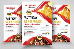 Professional Fitness Flyer Templates