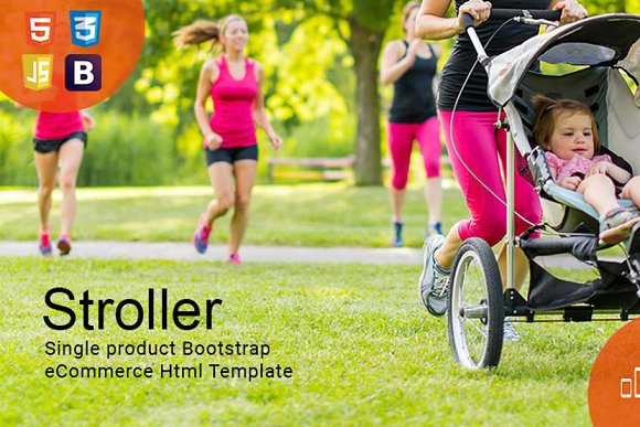 Stroller Bootstrap HTML Template