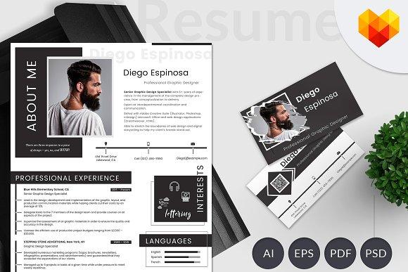 graphic designer resume portfolio resume templates creative market