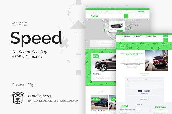 Speed Car Rental Sell Buy HTML5