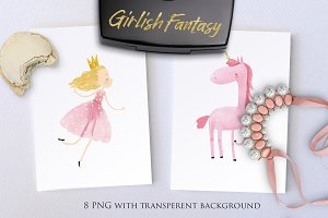 Pink girlish fantasy
