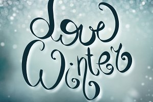 Love winter holidays card