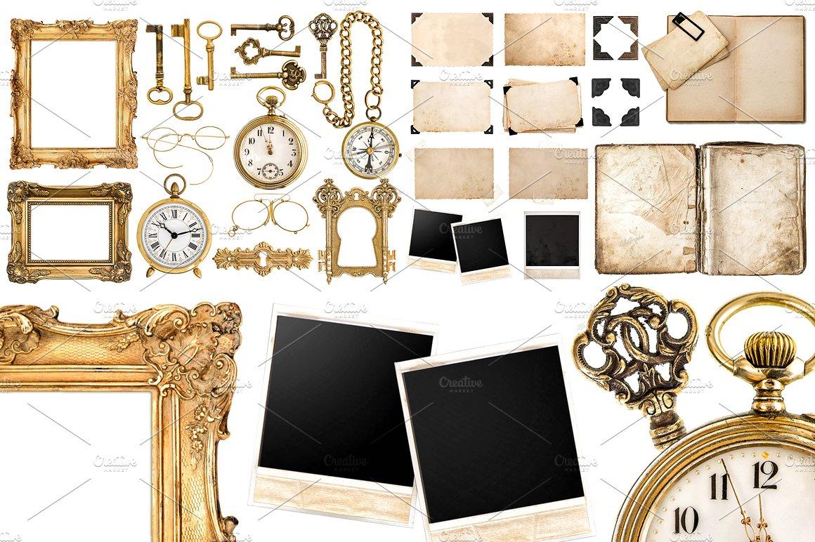 big collection of vintage object jpg objects creative market. Black Bedroom Furniture Sets. Home Design Ideas