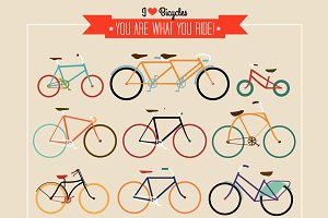 Hipster Bicycle set