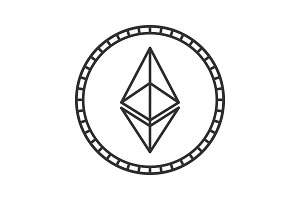 Ethereum coin linear icon