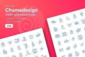 3300+ Line Icons