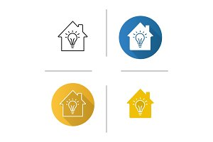Home electrification icon