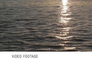 Water with sun reflection.