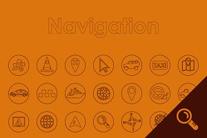 49 NAVIGATION simple icons