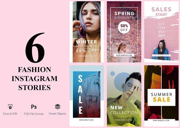 6 Fashion Instagram Stories in Instagram Templates