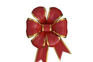 xmas bow in red and gold