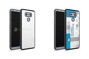 LG G6 2d RubberFlex Case Mockup 2017