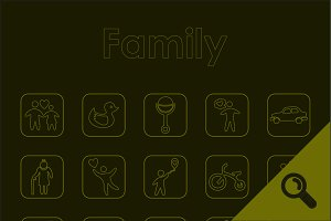 20 FAMILY simple icons