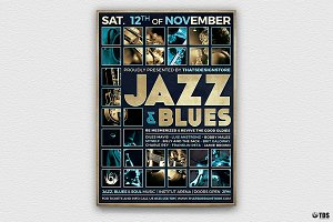 Jazz and Blues Flyer Template