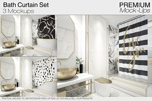 Bath Curtain Mockups