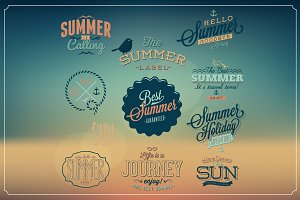 typographic summer labels