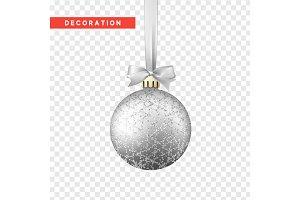 Xmas balls silver color.