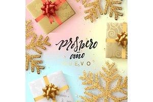 Spanish text Prospero ano Nuevo.