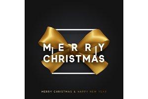 Christmas banner, poster, logo.