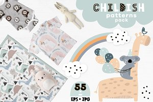 Childish patterns pack vol. 3