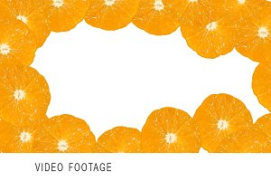 Background with moving oranges