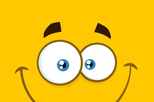 Smiling Cartoon Square Emoticons