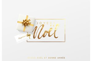 French text Joyeux Noel.
