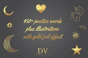 450+ Gold Words & Illustrations