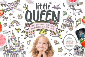 Little Queen - princess graphics