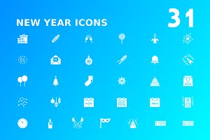 New Year Icon Bundle