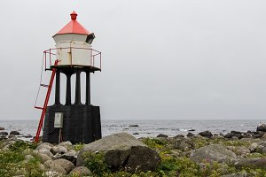 Red white lighthouse