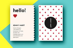 Modern Hearts Business Card Template