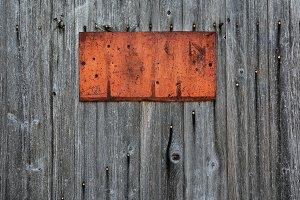 Rusty metal sign