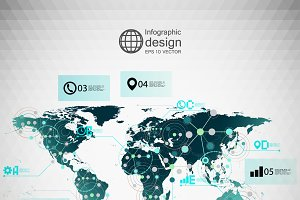 Infografica 3d infographic world map objects creative market world map infographic gumiabroncs Image collections