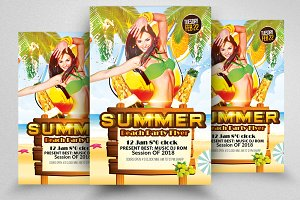 Summer Party Flyer Templates