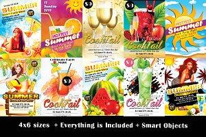 10 Summer Party Flyer Bundle Vol.03