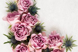 Pink roses ornament