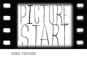 Vintage style film leader