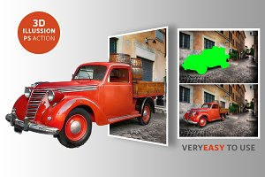 3D Pop Out Photo Illusion