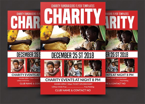 charity fundraising flyer flyer templates creative market