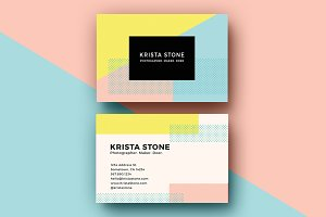 Geo Shapes Business Cards Template