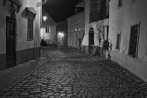 Narrow alley In Prague