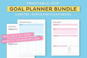 Printable Goal Planner Bundle