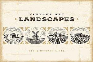 Vintage Landscapes Set