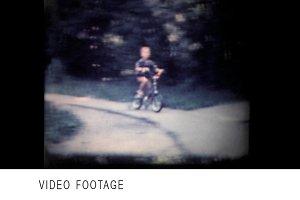 Boy on bike vintage 8mm film footage