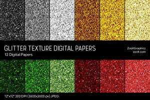Glitter Digital Papers