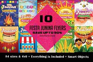10 Festa Junina Flyer Bundle