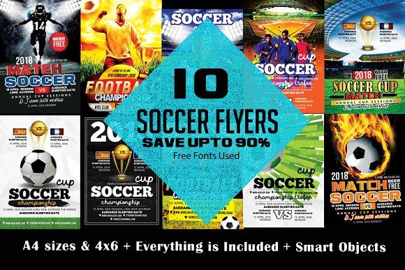 10 Soccer Flyer Bundle Templates Creative Market