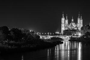 View of Basilica Pilar in Zaragoza,