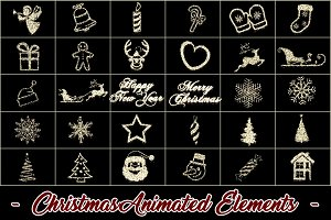 Christmas Animated Elements - Looped